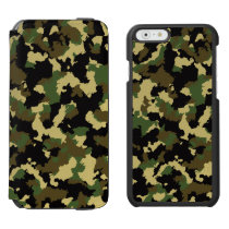 Green/Brown Camo iPhone 6/6s Wallet Case