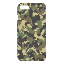 Green/Brown Camo iPhone 7 Case