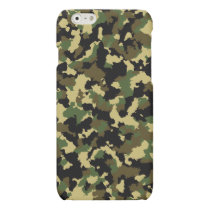 Green/Brown Camo Matte iPhone 6 Case