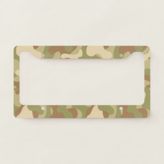 Green Brown Camouflage. Camo your License Plate Frame