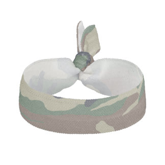 Green Brown Camouflage Hair Tie