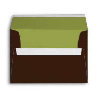 Green & Brown Christmas Card Holiday Envelopes Envelope