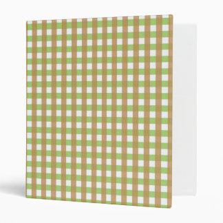 Green & Brown Crosshatched Binder