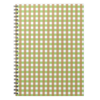 Green & Brown Crosshatched Notebook