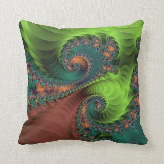 Green Brown Design Throw Pillow
