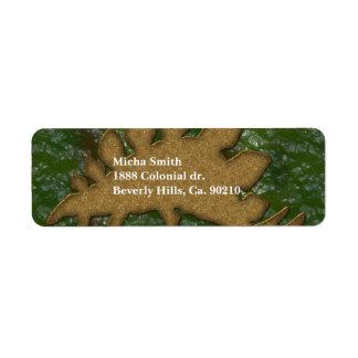 Green & Brown Dinosaur Skin Monogram Label