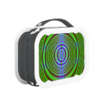 Green brown fractal circles yubo lunchboxes