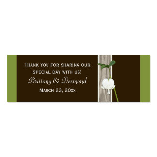 Green Brown Ivory Bleeding Heart Favor Tags Business Card Templates