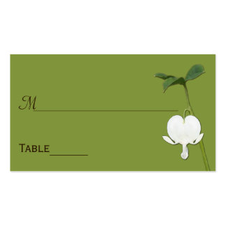 Green Brown Ivory Bleeding Heart Place Cards Business Card Template