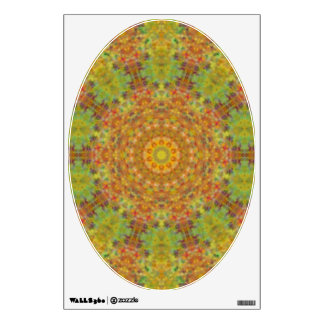 Green Brown Kaleidoscope - Art for Your Toilet Wall Graphic