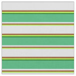 [ Thumbnail: Green, Brown, Lavender, Sea Green & Dark Green Fabric ]