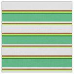 [ Thumbnail: Green, Brown, Lavender, Sea Green & Dark Green Fabric ]