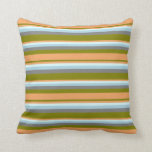 [ Thumbnail: Green, Brown, Light Cyan, Light Blue, and Gray Throw Pillow ]