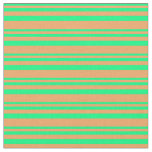 [ Thumbnail: Green & Brown Lined/Striped Pattern Fabric ]