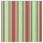 [ Thumbnail: Green & Brown Lines Fabric ]