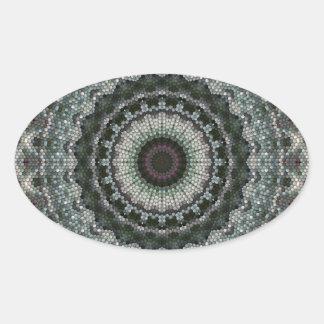 Green & Brown Mandala Eye Stickers