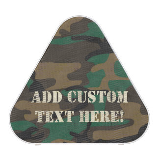 Green Brown Military Camo Camouflage Bluetooth Speaker