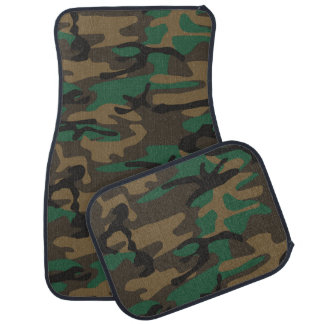 Green Brown Military Camo Camouflage Car Mat
