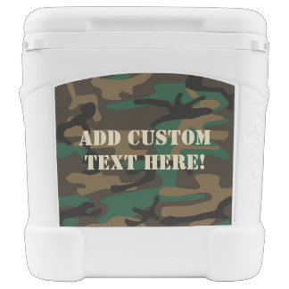 Green Brown Military Camo Camouflage Cooler