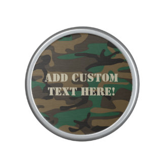 Green Brown Military Camo Camouflage Speaker