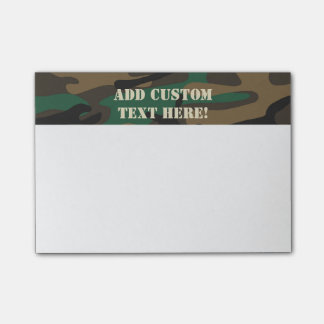 Green Brown Military Camo Camouflage Post-it® Notes