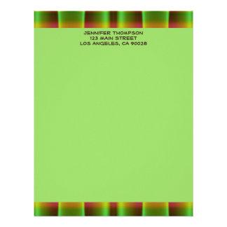 green brown  pattern letterhead