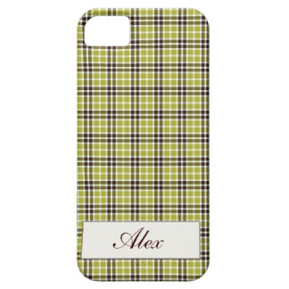 Green & Brown Plaid iPhone SE/5/5s Case