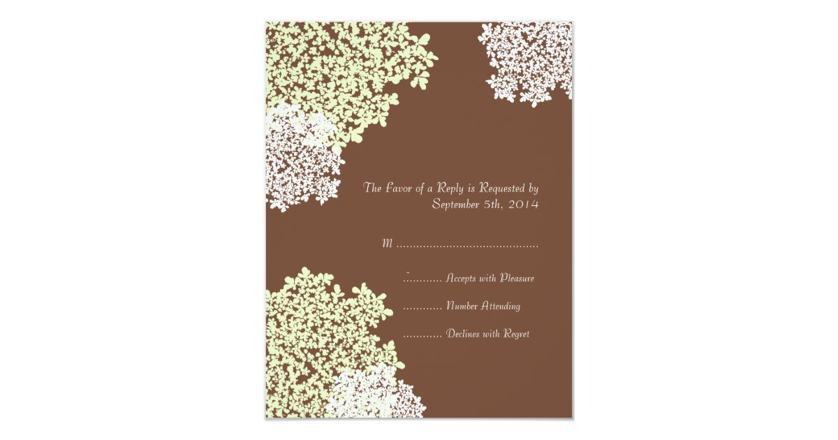 Green Brown Queen Anne39s Lace Wedding