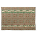 Green, Brown & Yellow Celtic Knots Placemat