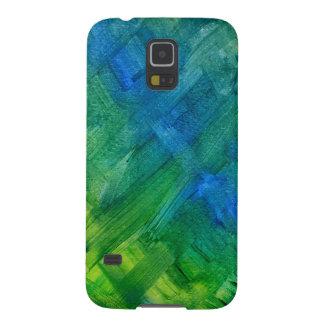 Green Brush Strokes Samsung Galaxy S5 Cover