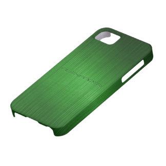 Green Brushed Aluminum Metal Look-Monogram iPhone SE/5/5s Case