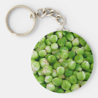 Green brussels sprouts keychain