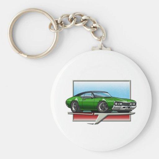 Green_BT_68_Cutlass Basic Round Button Keychain
