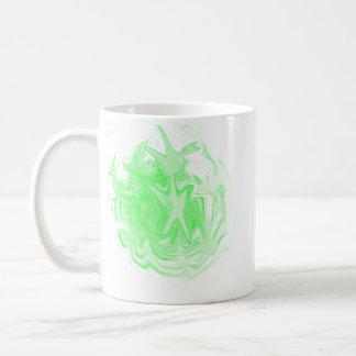 Green Bubble Person Mug