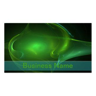 Green Bubble Streak Business Card