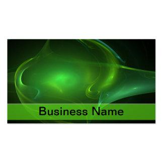 Green Bubble Streak Business Card Template