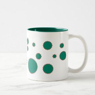 green bubble Two-Tone coffee mug