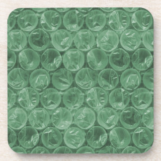 Green bubble wrap pattern coaster