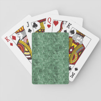 Green bubble wrap pattern playing cards