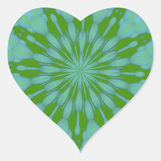 Green Bubble Zen Heart Sticker
