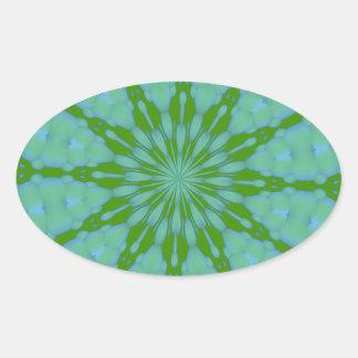 Green Bubble Zen Oval Sticker