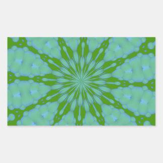 Green Bubble Zen Rectangle Sticker