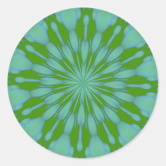 Green Bubble Zen Round Sticker