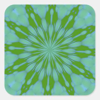 Green Bubble Zen Square Sticker