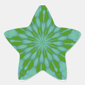 Green Bubble Zen Star Sticker