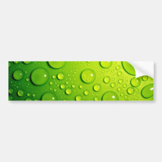 Green Bubbles Car Bumper Sticker