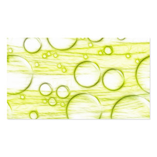Green Bubbles Business Cards