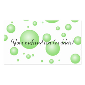 Green Bubbles Business Cards Template