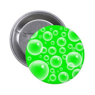 Green Bubbles 2 Inch Round Button