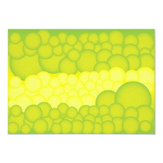 Green Bubbles Card